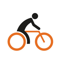 simple cycling sport figure symbol vector image