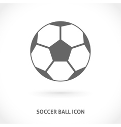 Soccer ball symmetry centered icon vector image