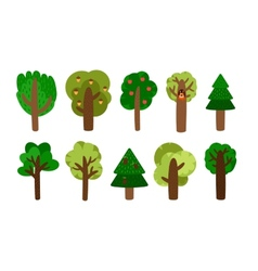 trees clip art vector image vector image