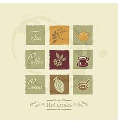 Beverages elements set vector image