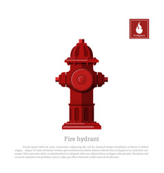 fire hydrant on white background vector image