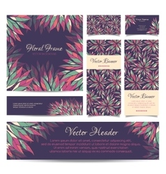 Set of banners business card frame and vector image