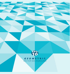 abstract blue and white color triangle square vector image