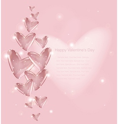 Bubbles Of Heart vector image vector image