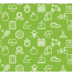Health Life Fitness Background vector image