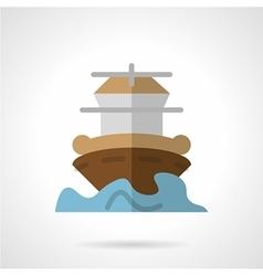 Marine vessel flat color icon vector image vector image