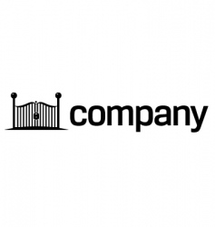 security gates logo vector image vector image
