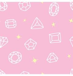 Diamond seamless pattern vector image vector image