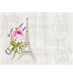 Eiffel tower icon vector image vector image