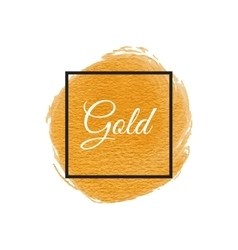 Gold Shining Acrylic Paint Stain Hand Drawn vector image vector image