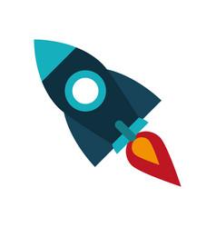rocket space icon image vector image vector image