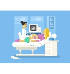 Ultrasound of a pregnant woman vector image