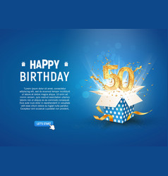 50 th years anniversary banner with open burst vector