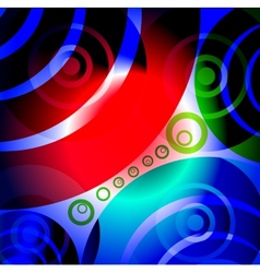 Abstract Glowing Circles Background vector image