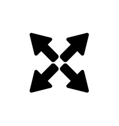 arrows icon black on white vector image