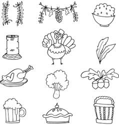 Art of thanksgiving doodle vector