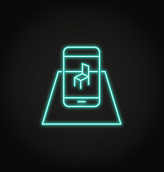 Augmented reality concept icon in neon style vector