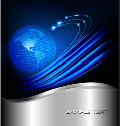 Background with programming globe vector
