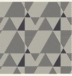 black and white modern geometric seamless pattern vector image