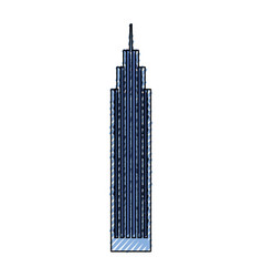 blue skyscraper cartoon vector image