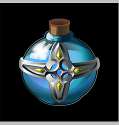 Bottle with magical holy water vector