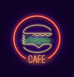 cafe burger vector image