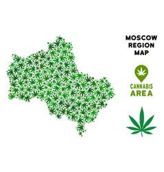 Cannabis composition moscow oblast map vector