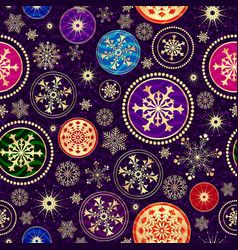 christmas dark violet seamless dotted pattern vector image