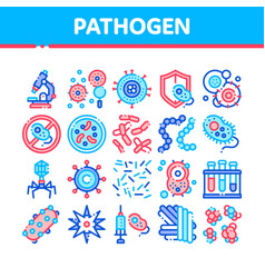 Collection pathogen elements sign icons set vector