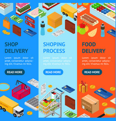 E-commerce banner vecrtical set vector