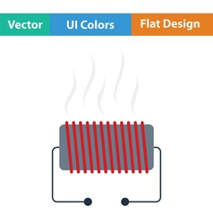 Electrical heater icon vector image
