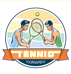 Emblem of tennis tournament vector image