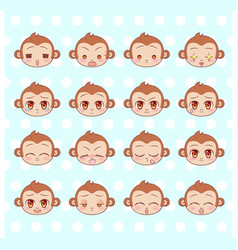 Emoticons emoji smiley set colorful sweet vector