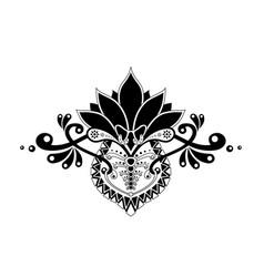 Ethnic pattern whit organic motif isolatid vector