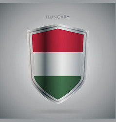 Europe flags series hungary modern icon vector
