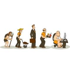 Evolution Of Obesity vector