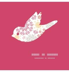 folk floral circles abstract bird vector image