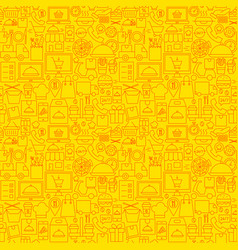 Food online delivery line seamless pattern vector