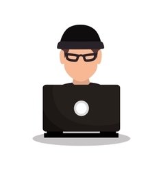 hacker attack system security intruder vector image