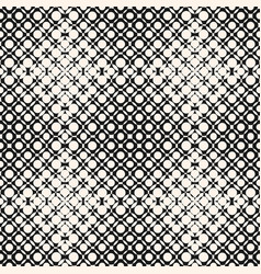 Halftone seamless pattern with circles vector