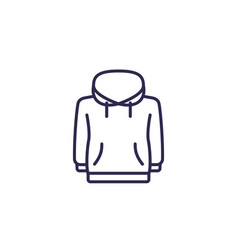 Hoodie line icon on white vector