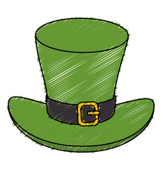 Irish elf hat saint patrick celebration vector