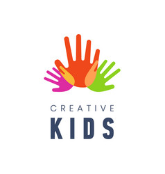 Kids creative template logo vector