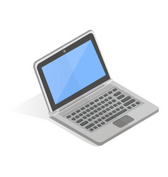 laptop computer realistic in isometric projection vector image