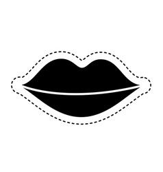 Lips female drawing icon vector