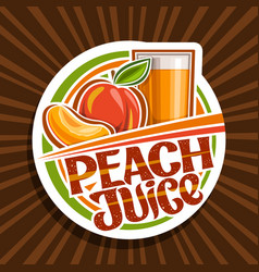 logo for peach juice vector image