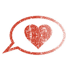 Love message balloon grunge texture icon vector