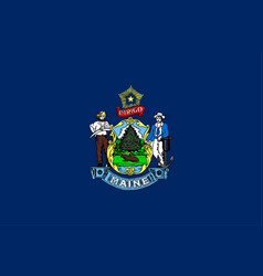 Maine state flag vector