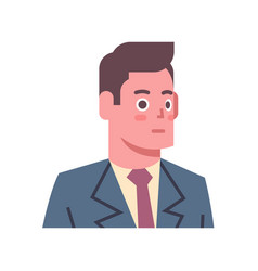 Male shocked emotion icon isolated avatar man vector