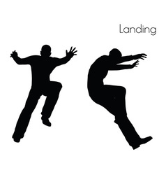 Man in Landing Action pose vector